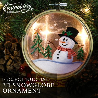 3 D Snowglobe Ornament