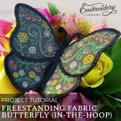 Freestanding Fabric Butterfly, In-the-Hoop
