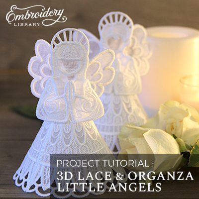 3D Lace & Organza Little Angels