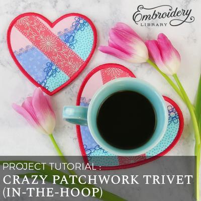 Crazy Patchwork Trivet, In-the-Hoop