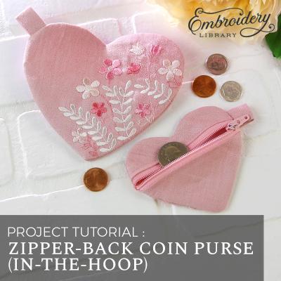 Zipper-Back Coin Purse (In-the-Hoop)