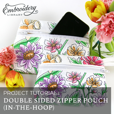 Double Sided Zipper Pouch (In-the-Hoop)