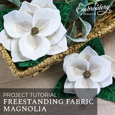 Freestanding Fabric Magnolia