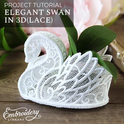 3D Lace Swan
