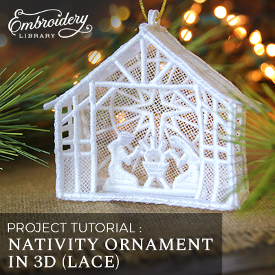 Nativity Ornament in 3D (Lace)