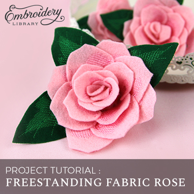 Freestanding Fabric Rose