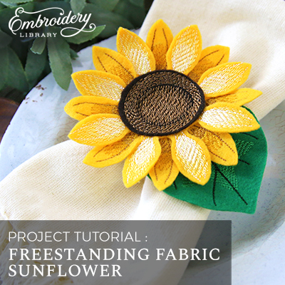 Freestanding Fabric Sunflower