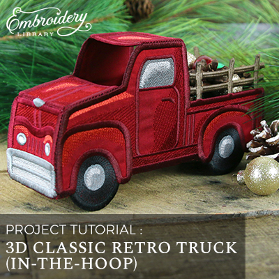 3D Classic Retro Truck (In-the-Hoop)