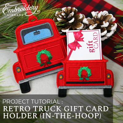 Retro Truck Gift Card Holder (In-the-Hoop)