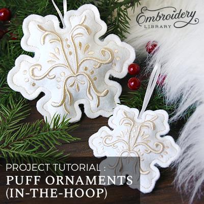 Puff Foam Ornaments (In-the-Hoop)