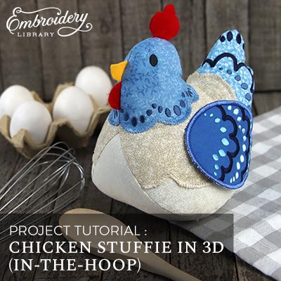 Chicken Stuffie in 3D (In-the-Hoop)