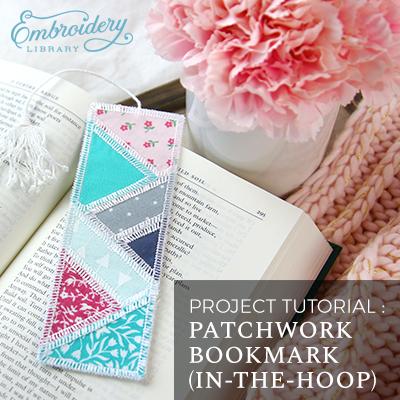 Patchwork Bookmark (In-the-Hoop)