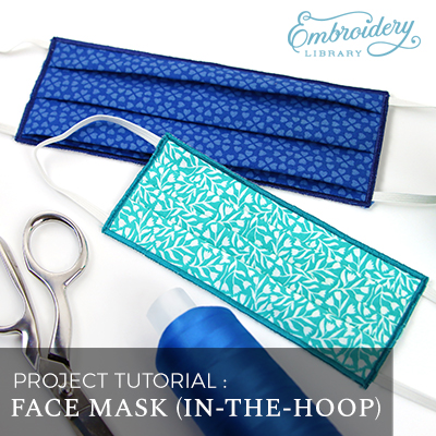 Free project instructions for creating an in-the-hoop face mask.