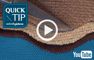 Free video with instructions on how to prevent shifting and gapping in your embroidery.