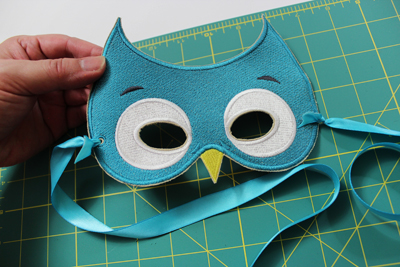 Free project instructions to create stitch filled masks.