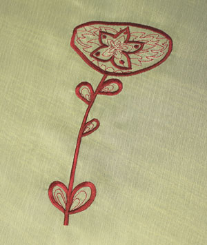 Kenny's Korner Fabrics 101: Embroidering on Chiffon