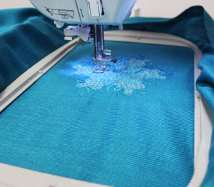 Kenny's Korner Fabrics 101: Embroidering on Pashmina