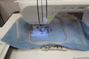 Tips for embroidering on microfiber.
