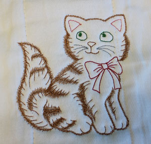 Tips for embroidering on cloth diapers.