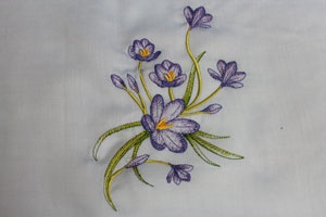 Tips and tricks for getting great results when embroidering onto batiste