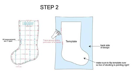 photo about Printable Stocking Pattern known as Device Embroidery Programs at Embroidery Library
