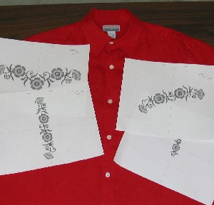 Embroidery placement on shirts free embroidery patterns for Dress shirt monogram placement