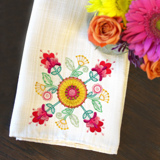 Embroidery Library - Featured Pack: Blooming Bohemian Flowers (Vintage)