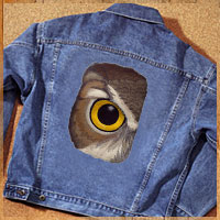 Free article with tips for embroidering on denim.