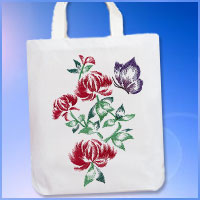 Free project instructions for an embroidered tote bag.