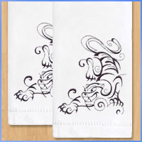 Free project instructions for embroidering on tea towels.