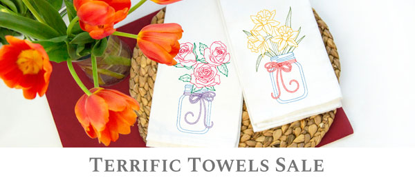 Embroidery Library - Terrific Towels Sale