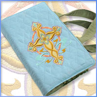Free project instructions for creating a Bible cover using  machine embroidery designs.