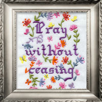 Free project instructions for framing machine embroidery designs.