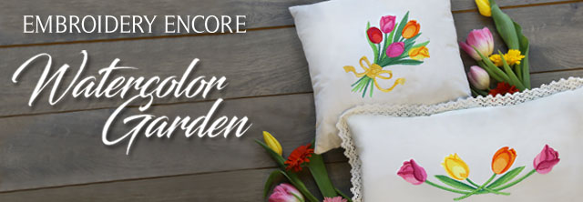 Embroidery Library - Watercolor Garden Encore