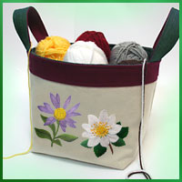 Free project instructions for creating a fabric basket.