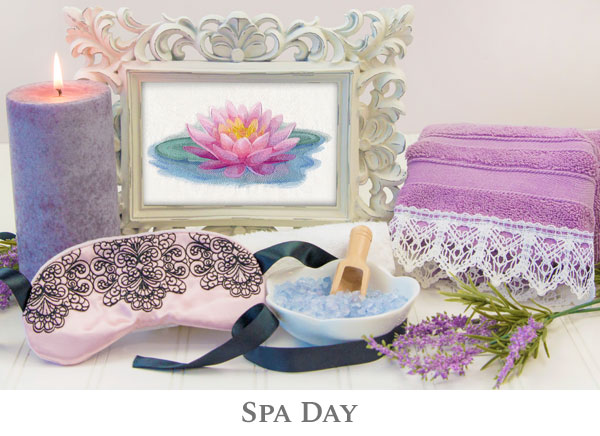 Embroidery Library - Spa Day