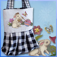 Create a tea towel tote using machine embroidery designs in this free project.