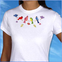 Embroider on t-shirts using machine embroidery designs with this free tutorial.