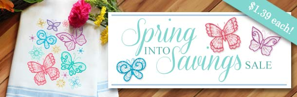 Embroidery Library Spring Into Savings Sale