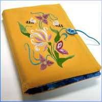 Embroider a sketch pad cover with this free tutorial.