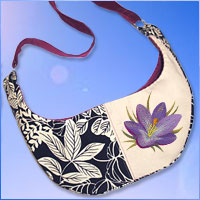 Create a hobo bag using machine embroidery designs with this free tutorial.