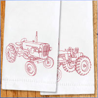 Stitch flour sack towels using machine embroidery designs with this free tutorial.