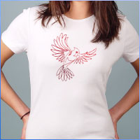 Stitch a T-shirt using machine embroidery designs with this free tutorial.