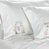 Stitch pillowcases using machine embroidery designs with this free tutorial.
