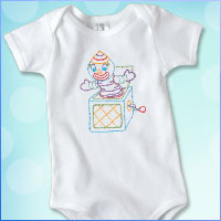 Stitch a onesie using machine embroidery designs with this free tutorial.