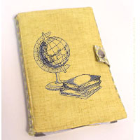 Stitch an e-reader cover using machine embroidery designs with this free tutorial.