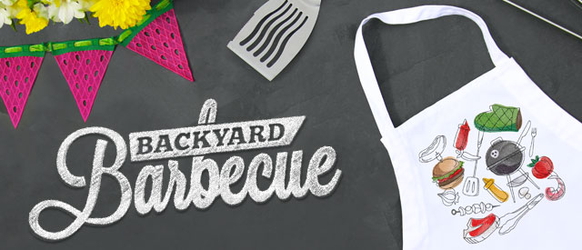 Embroidery Library - Backyard Barbecue