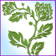 Damask Branch machine embroidery design.