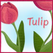 Tulip Floral Square machine embroidery design.