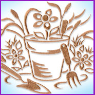 Simply Spring Garden machine embroidery design.